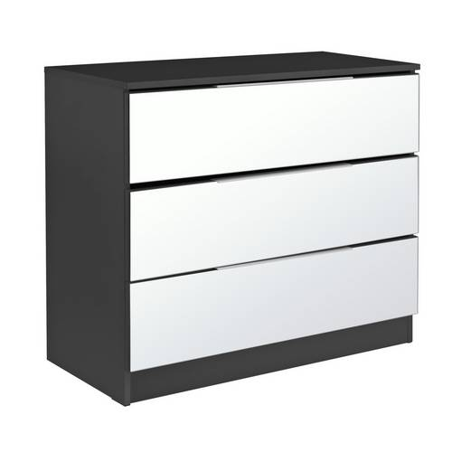 save off bc566 01768 Buy Argos Home Sandon 3 Drawer Chest - Black and Mirrored   Chest of  drawers   Argos