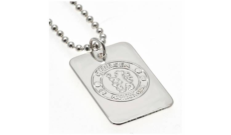 Silver Plated Chelsea Dog Tag & Ball Chain.