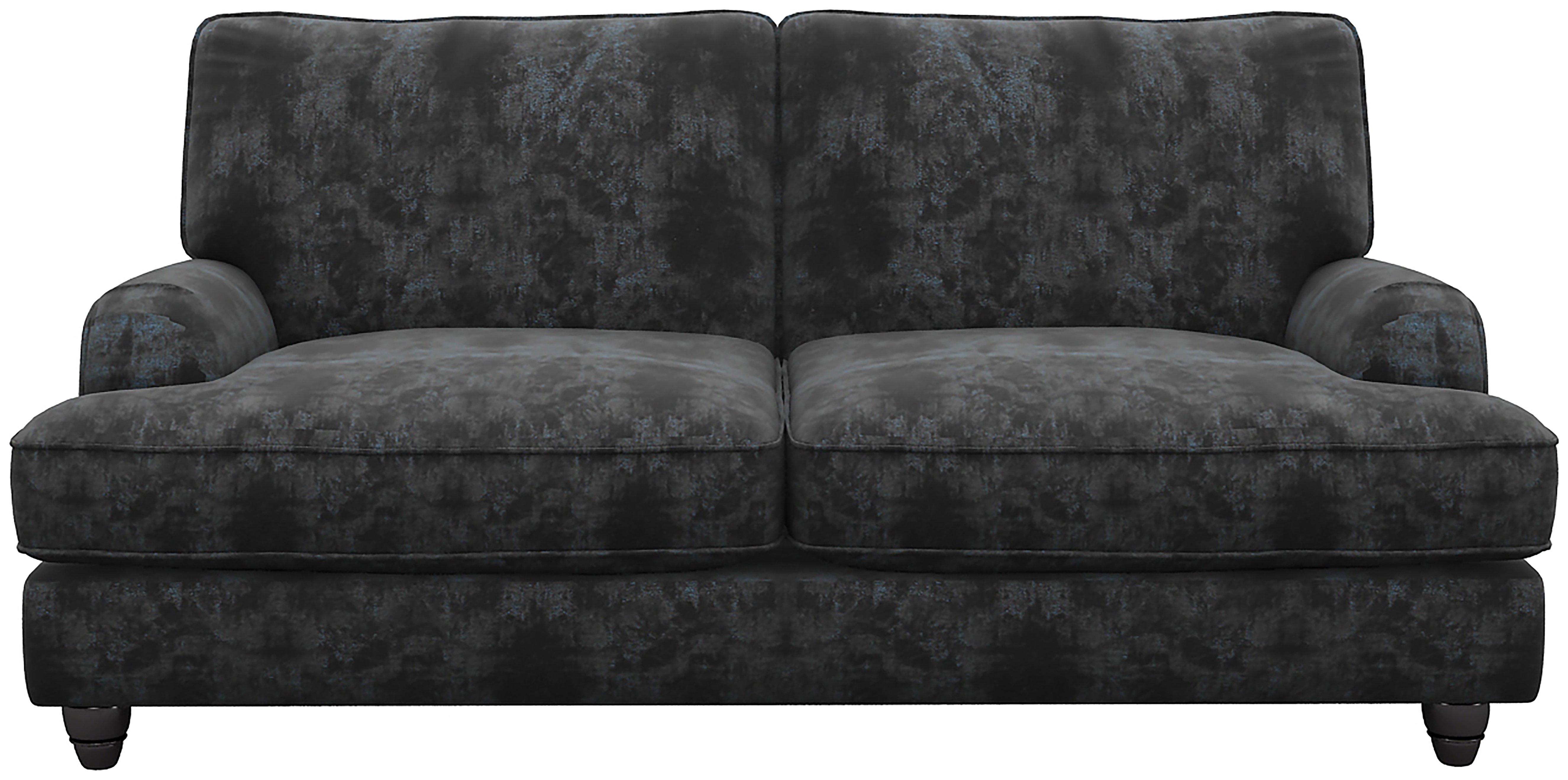 Heart of House Adeline 2 Seater Shimmer Fabric Sofa - Black