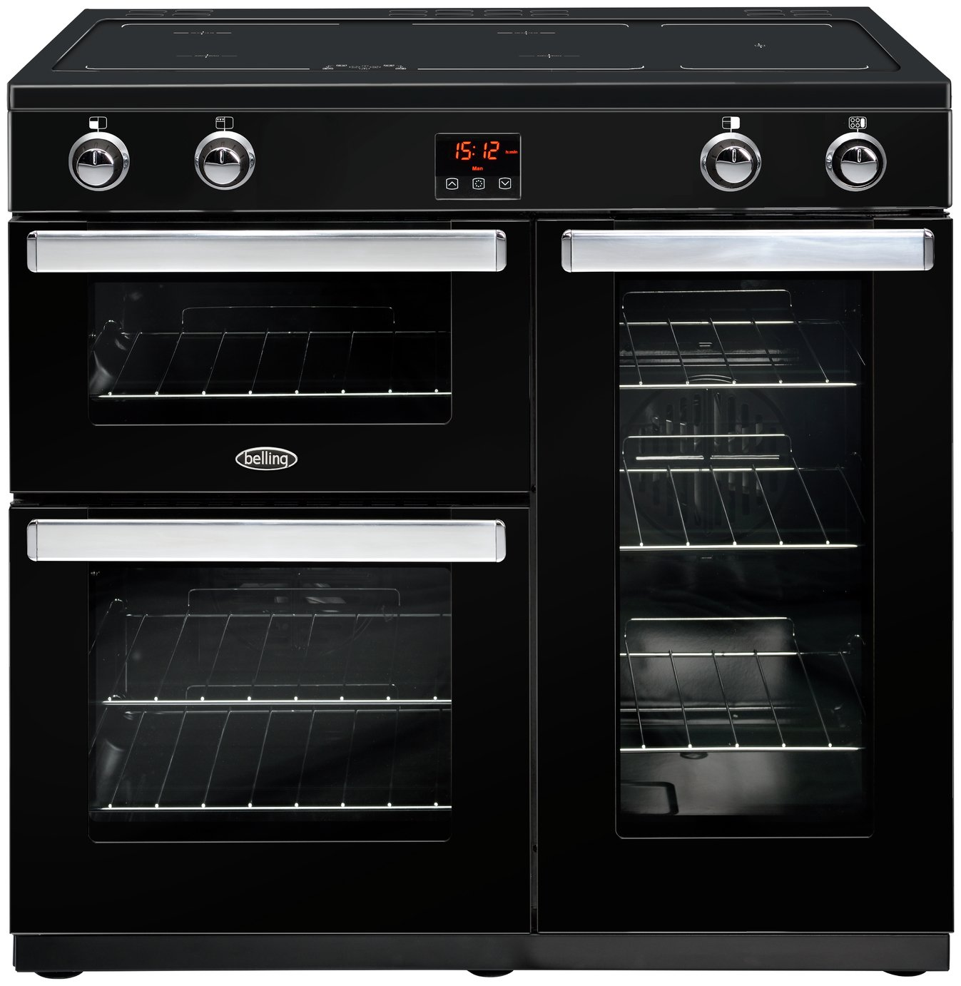 Belling Cookcentre 90Ei 90cm Electric Range Cooker - Black