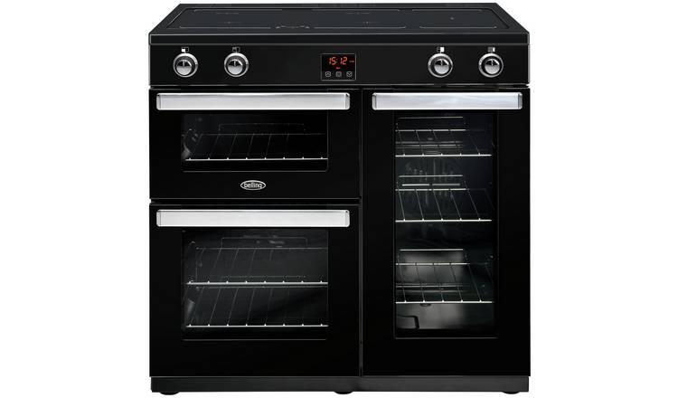 Buy Belling Cookcentre 90Ei 90cm Electric Range Cooker - Black | Range  cookers | Argos