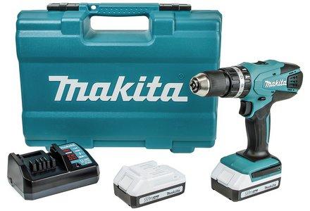 Makita G-Series Cordless Combi Drill 74Pc Set - 18V.