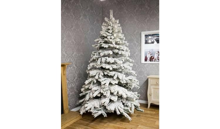 Buy Premier Decorations 7ft Flocked Pine Christmas Tree