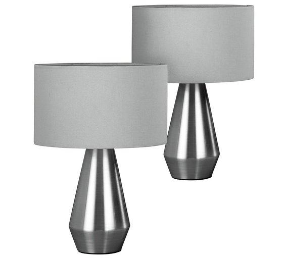 Habitat Pair of Maya Table Touch Lamps - Grey - Buy Habitat Pair Of Maya Table Touch Lamps - Grey At Argos.co.uk