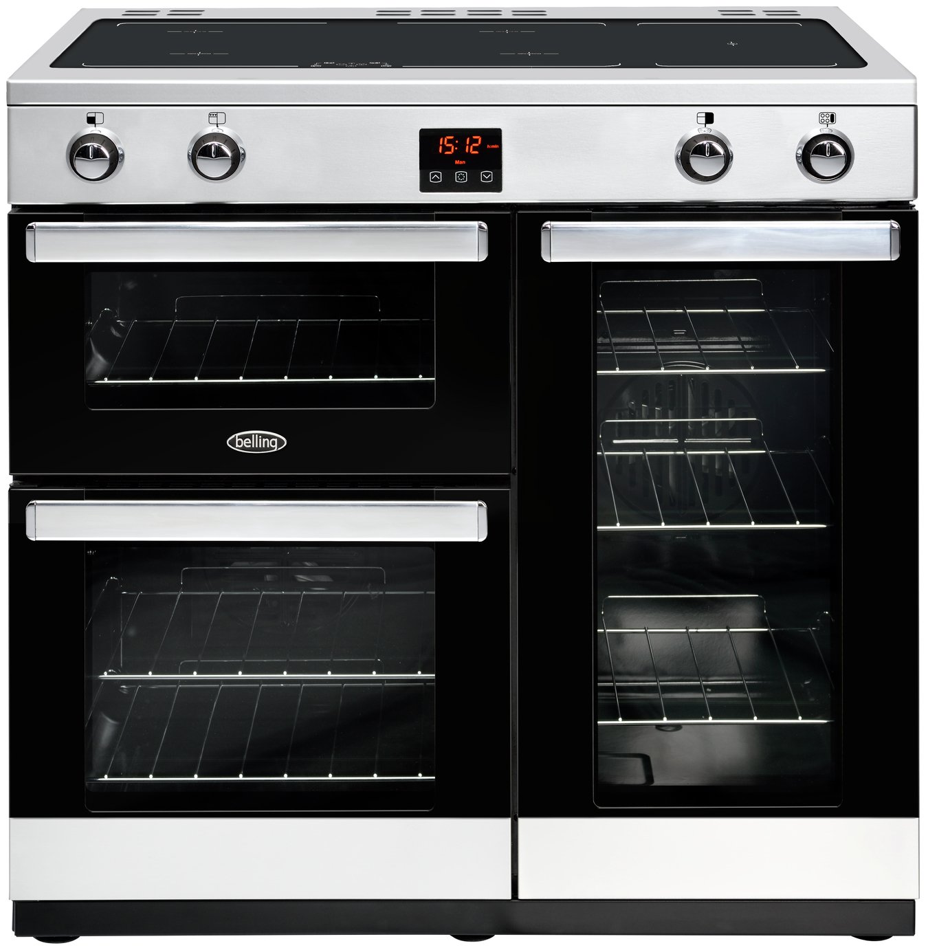 Belling Cookcentre 90Ei 90cm Electric Range Cooker - SS