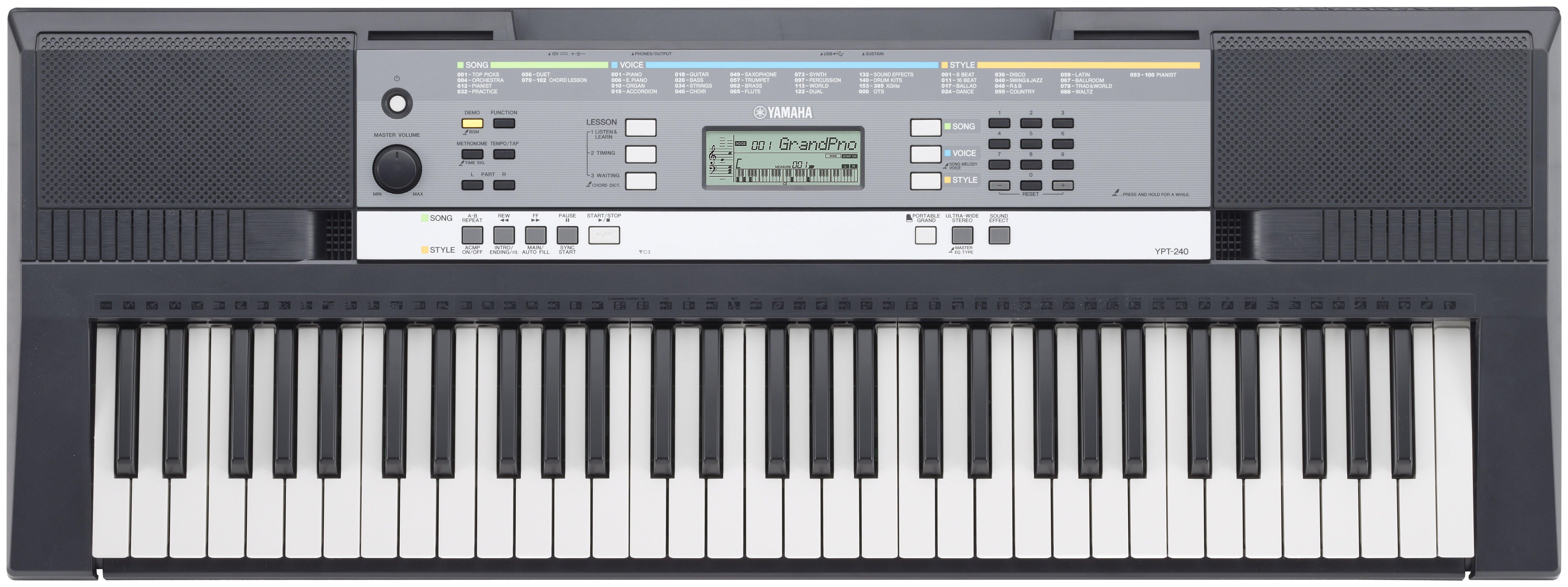 Yamaha YPT-240 Full Size Keyboard