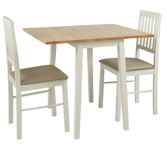 Buy HOME Kendall Extending Solid Wood Table 2 Chairs Two Tone