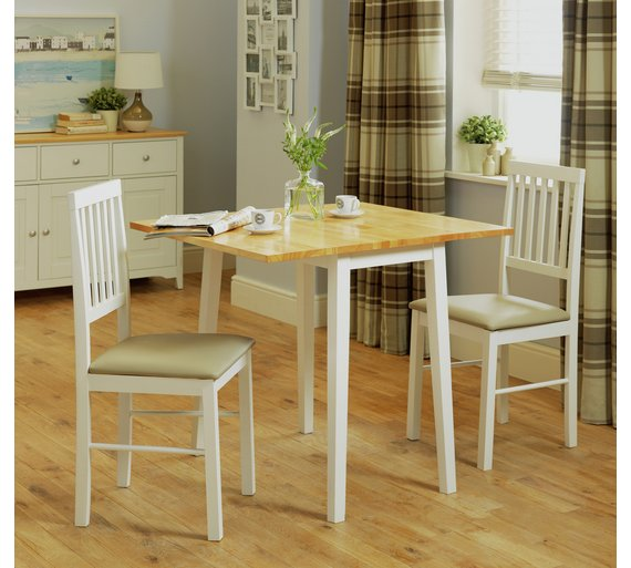 buy argos home kendal extendable wood table 2 chairs two tone