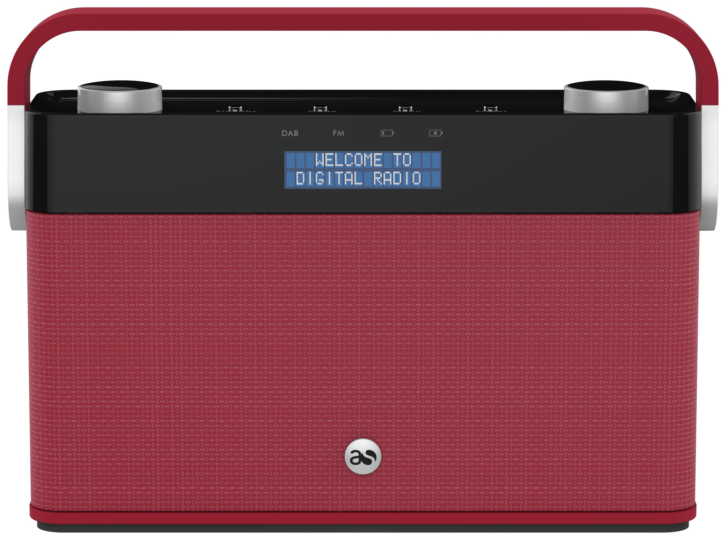 Image of Acoustic Solutions - DAB Radio - Red