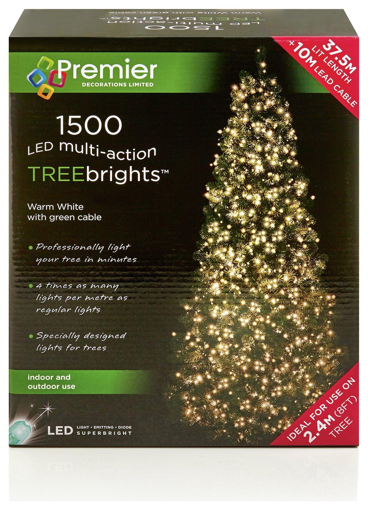 1500 LED Treebrite Lights - Warm White.
