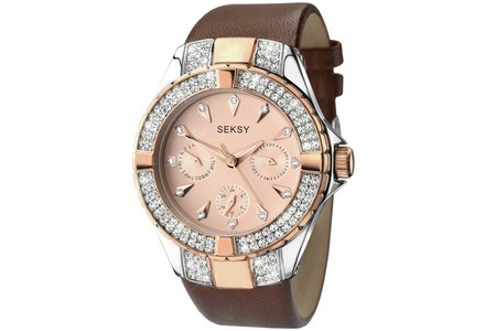 Seksy Ladies' Intense Rose Gold Plated Strap Watch.
