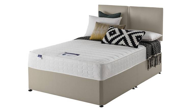 Silentnight Hatfield Memory Foam Small Double Divan Bed-Sand