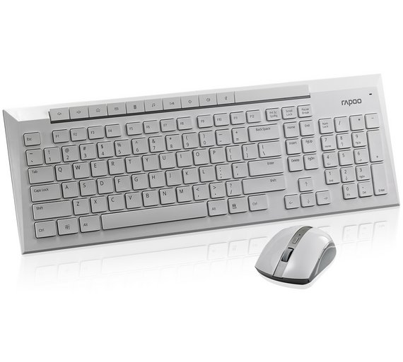 buy rapoo 8200p wireless keyboard white at your online shop for pc keyboards. Black Bedroom Furniture Sets. Home Design Ideas