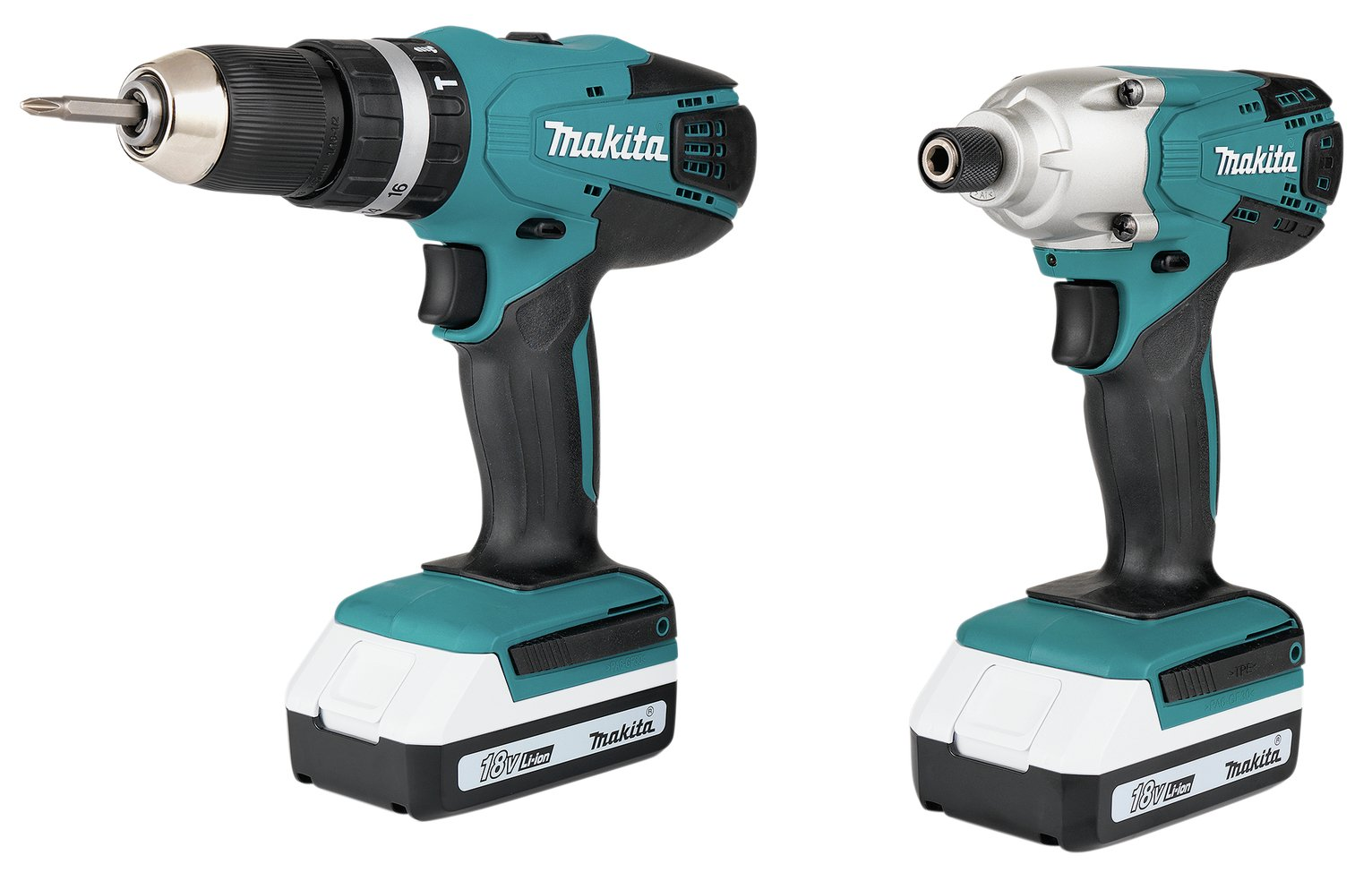 Makita G-Series 1.5Ah Combi Drill and Impact Driver - 18V