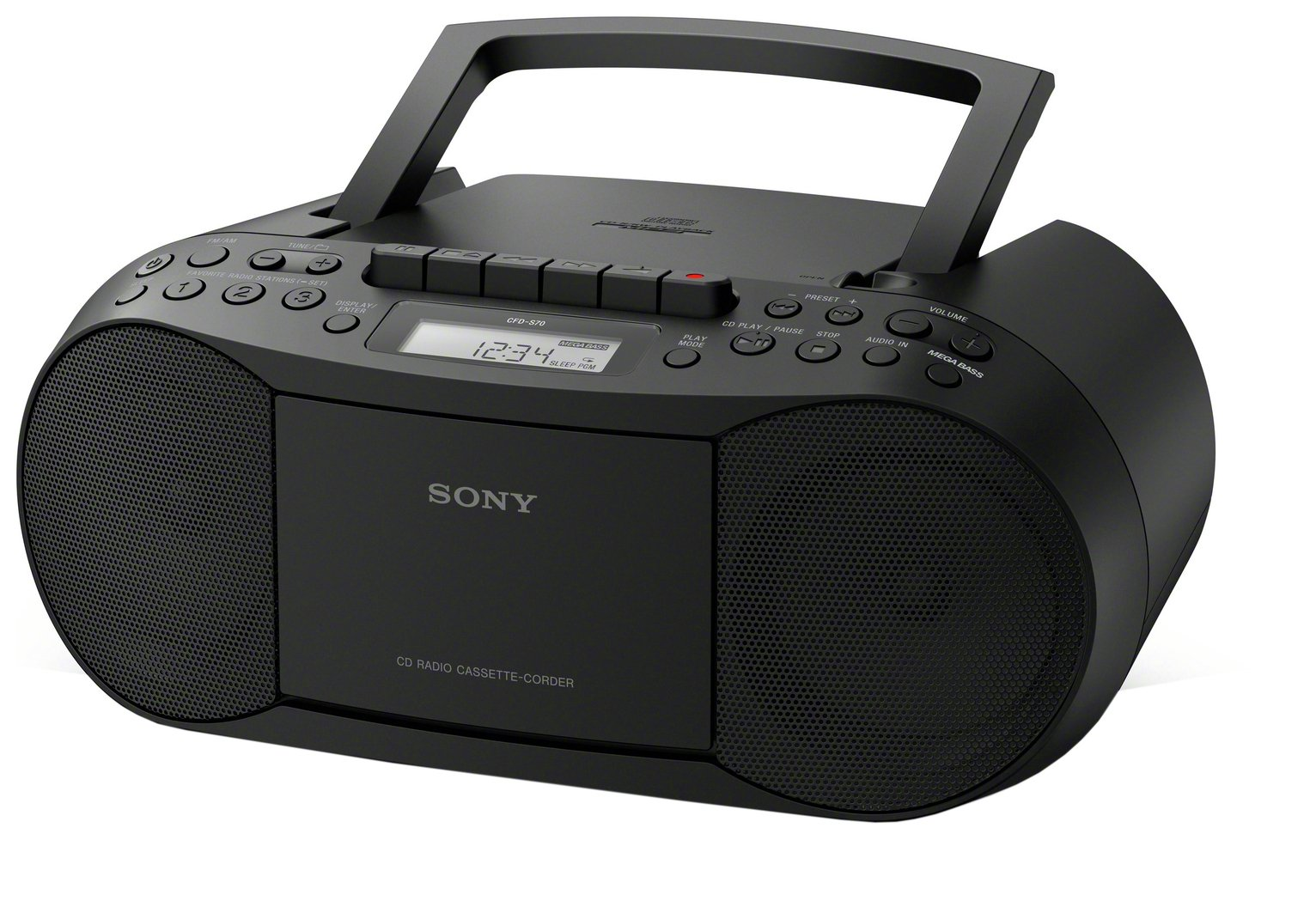 Sony - CFD-S70 CD and Cassette Player ? Black