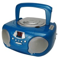 Groov-e GVPS713/BE Boombox CD Player with Radio - Blue.