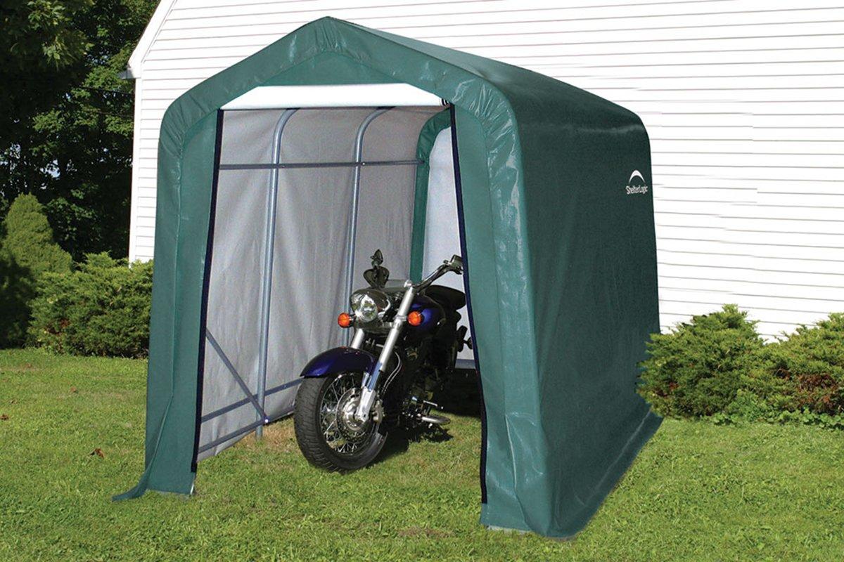 'Shelter Logic Peak Style Plastic Storage Shed - 6 X 10ft