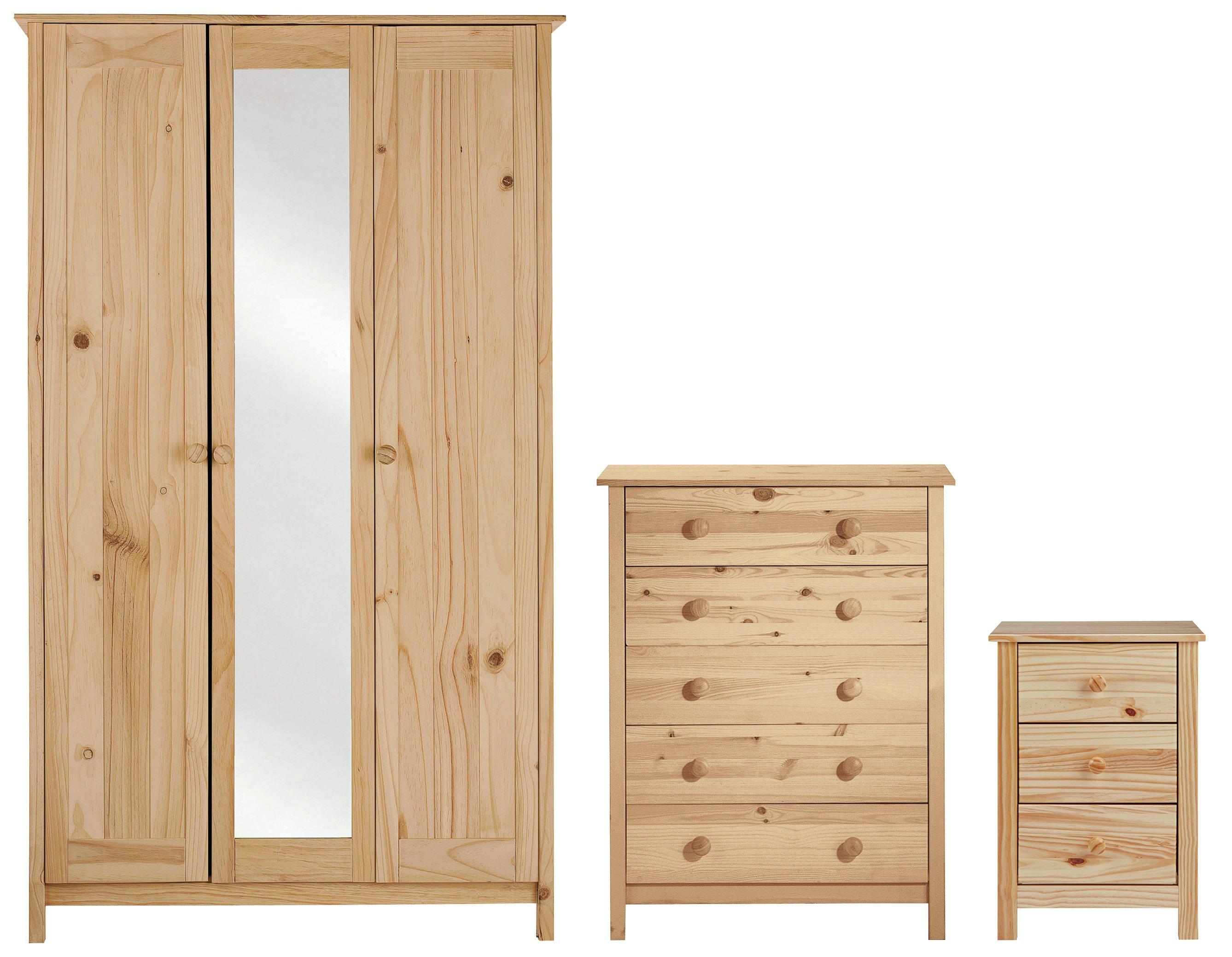HOME New Scandinavia 3 Piece 3 Door Wardrobe Package