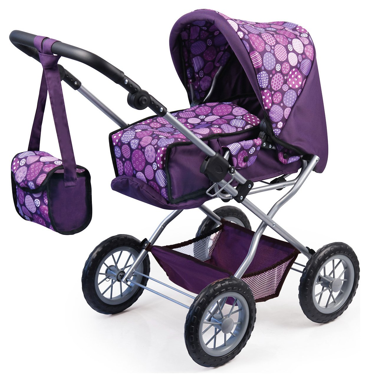 Bayer - Dolls Pram Combi Grande Purple Pattern