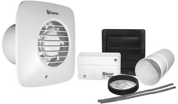 Xpelair Simply Silent LV100 Low Voltage Timer Bathroom Fan.
