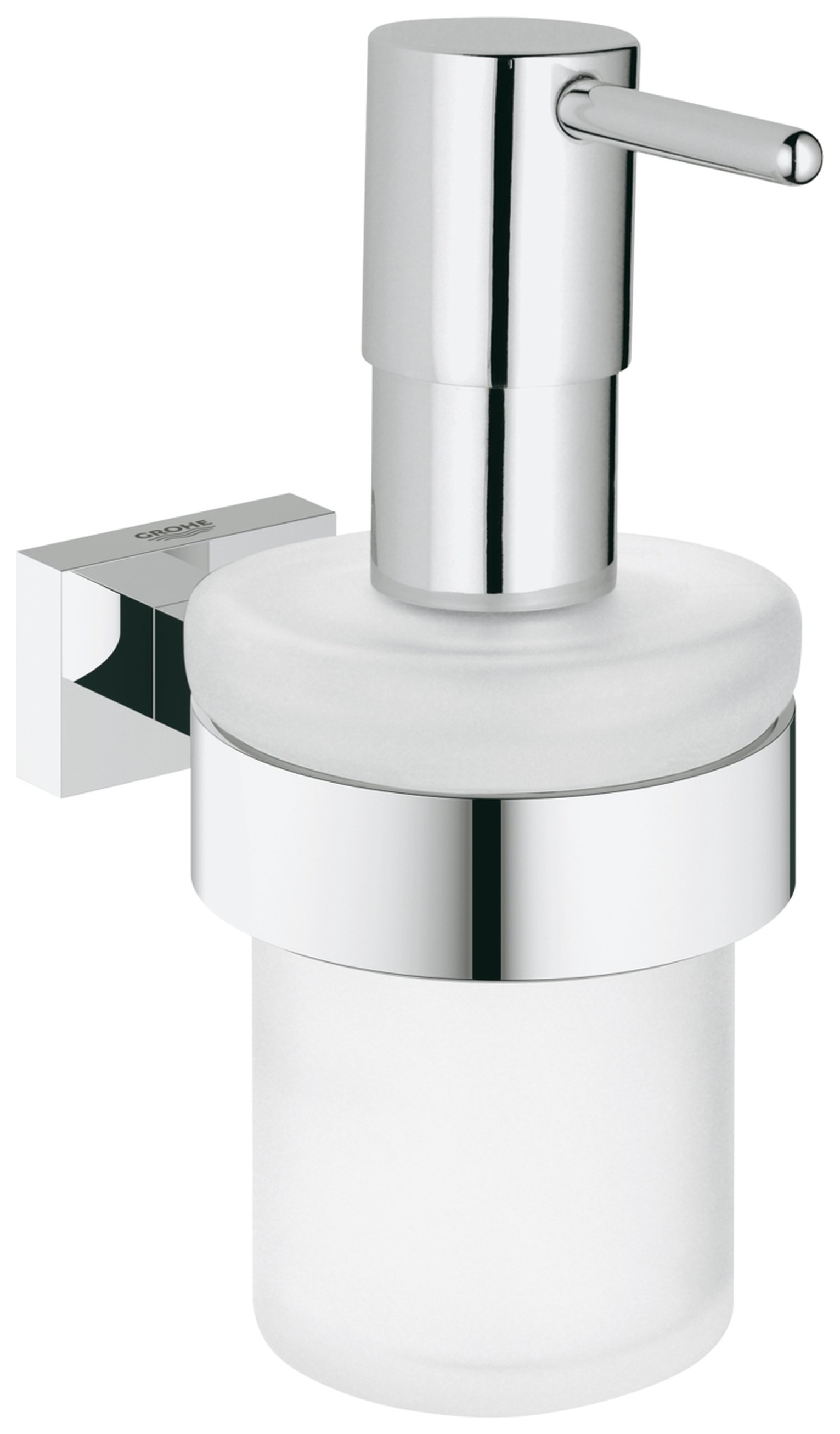 Image of Grohe Essentials Cube Soap Dispenser with Holder