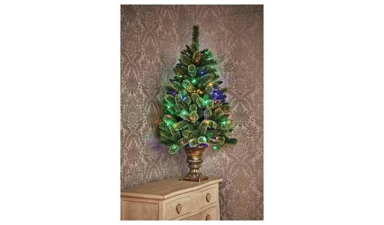 4ft Christmas Tree.Buy Premier Decorations 4ft Pre Lit Pine Christmas Tree Green Artificial Christmas Trees Argos