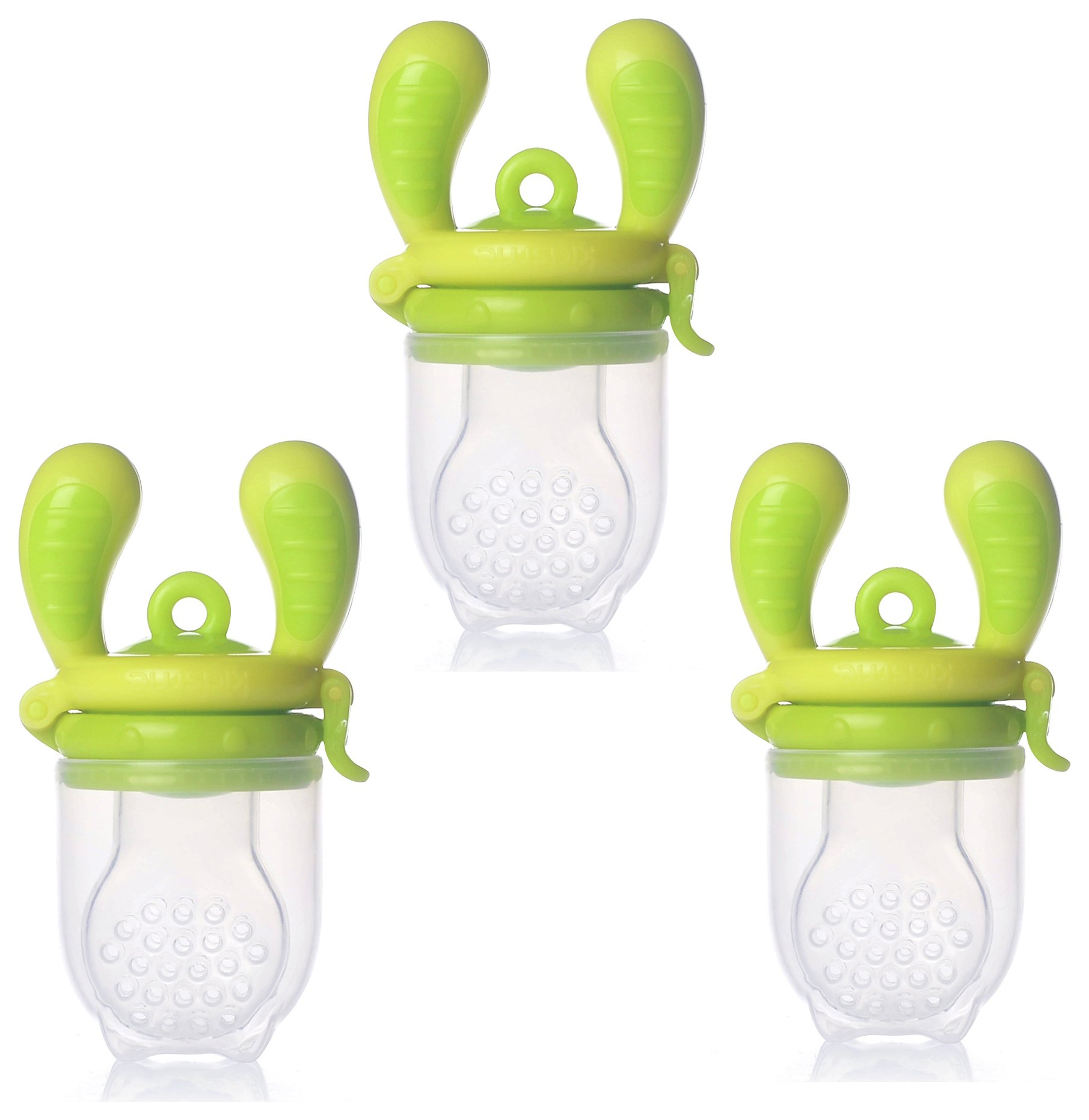 Image of Kidsme - Food Feeder Starter Set of 3 Large - Lime
