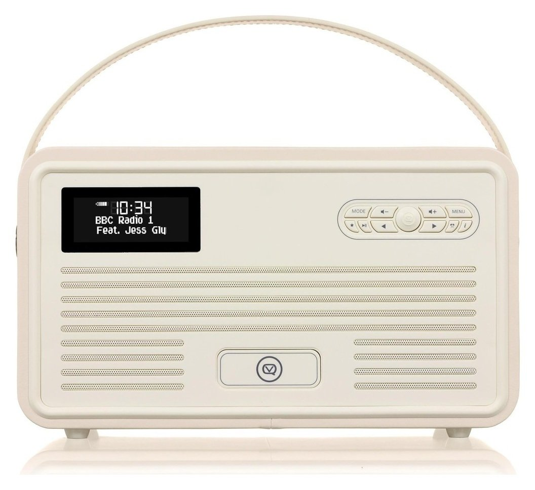 VQ VQ Retro Bluetooth DAB Radio - Cream.