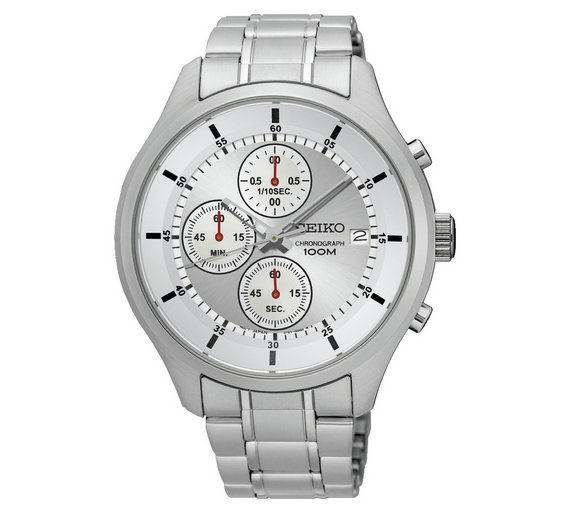 buy seiko men s stainless steel chronograph watch at argos co uk seiko men s stainless steel chronograph watch574 8116