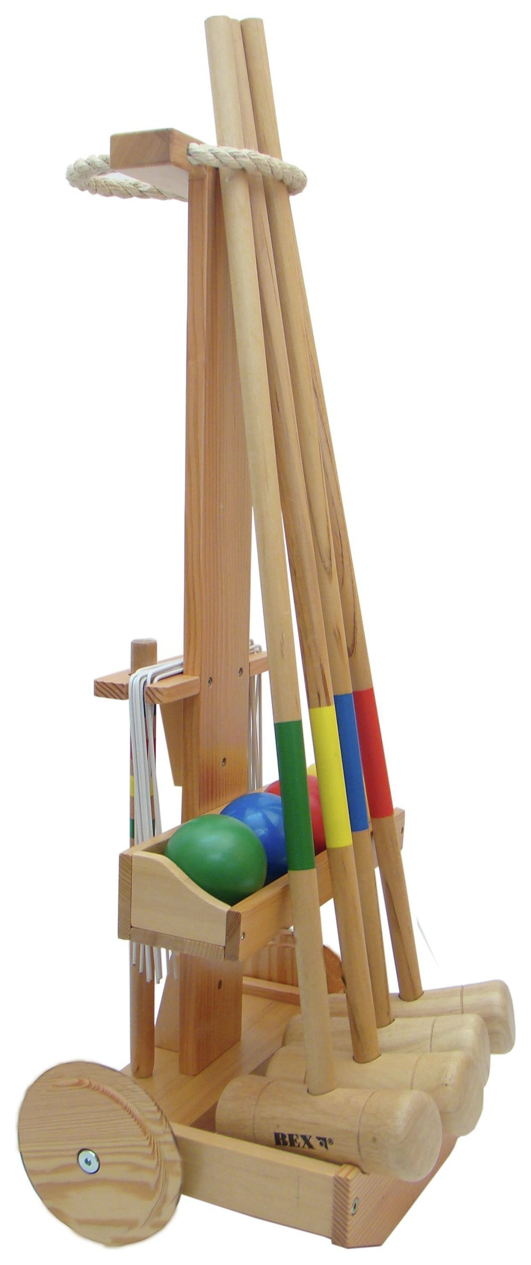 Image of Croquet Original Set with Trolley.