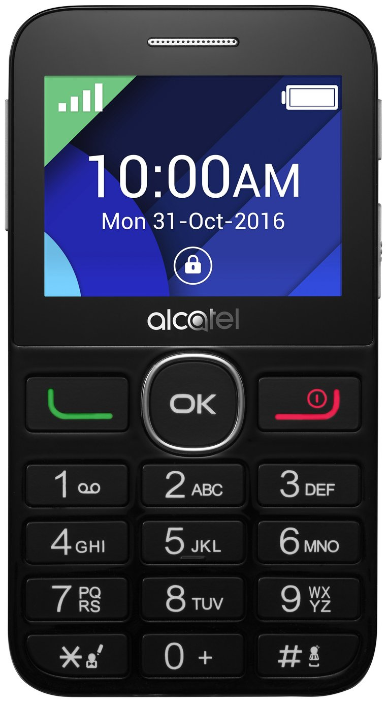 SIM Free Alcatel 2008G Mobile Phone - Black