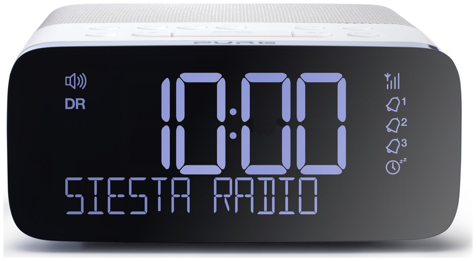 pure siesta rise dab fm bedside alarm clock gay times uk. Black Bedroom Furniture Sets. Home Design Ideas
