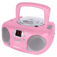 Groov-e GVPS713/PK Boombox CD Player with Radio - Pink.