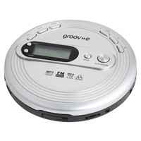 Groov-e GVPS210/SR Retro Personal CD Player - Silver.