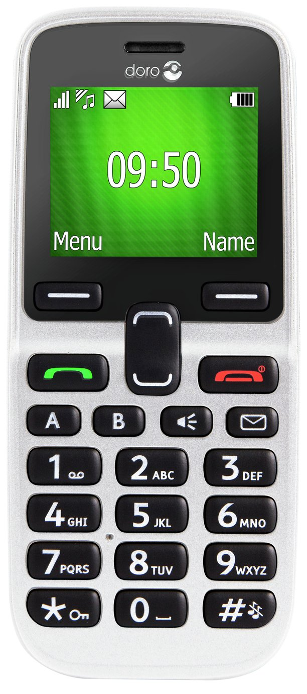 Image of Sim Free Doro 5030 Candy Bar Mobile Phone ??? White