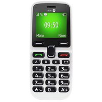 Sim Free Doro 5030 White Candy Bar Mobile Phone