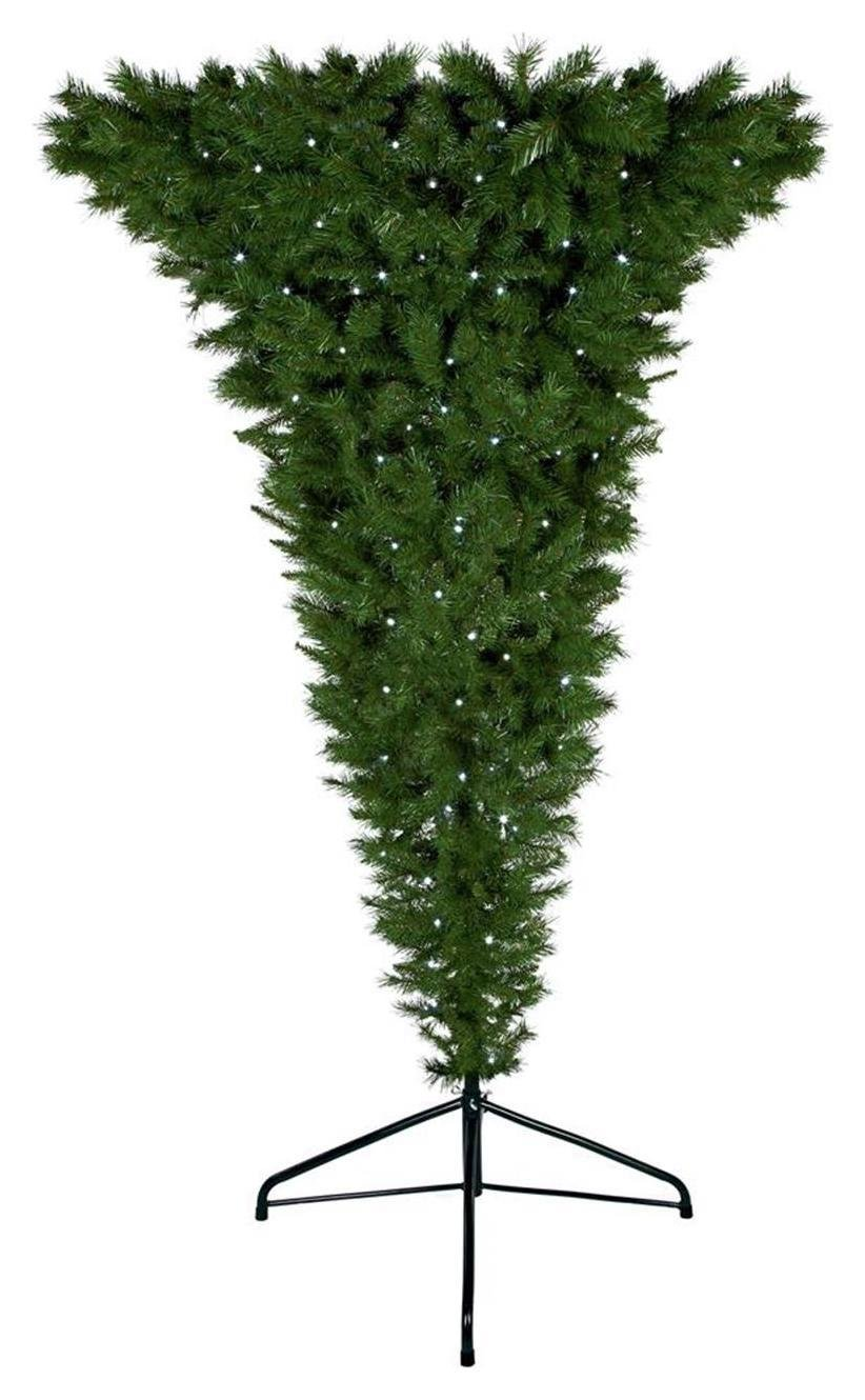 7ft Pre Lit Upside Down Christmas Tree   Green