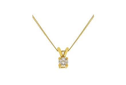 Cut out image of a 9ct 10pt diamond solitaire pendant.