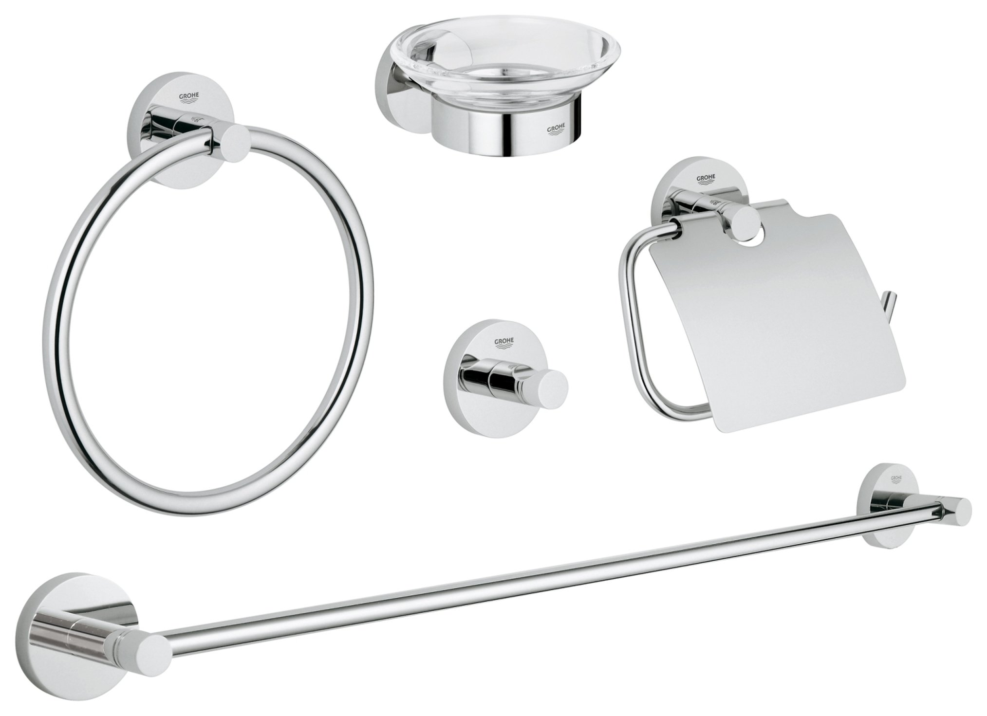 Image of Grohe Essentials - 5 Piece Accessory Set