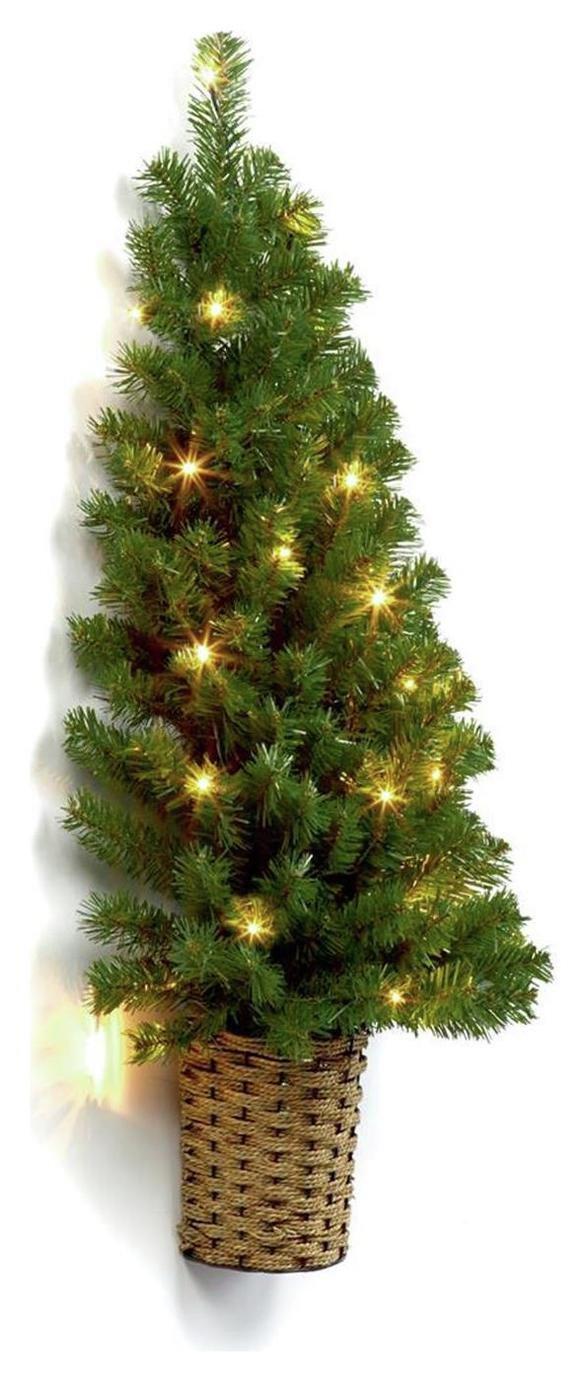 Pre-Lit Half Wall Christmas Tree in Basket