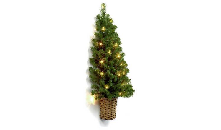 best loved 5dd5f 41ac0 Buy Premier Decorations 3ft Pre-lit Half Christmas Tree - Green    Artificial Christmas trees   Argos