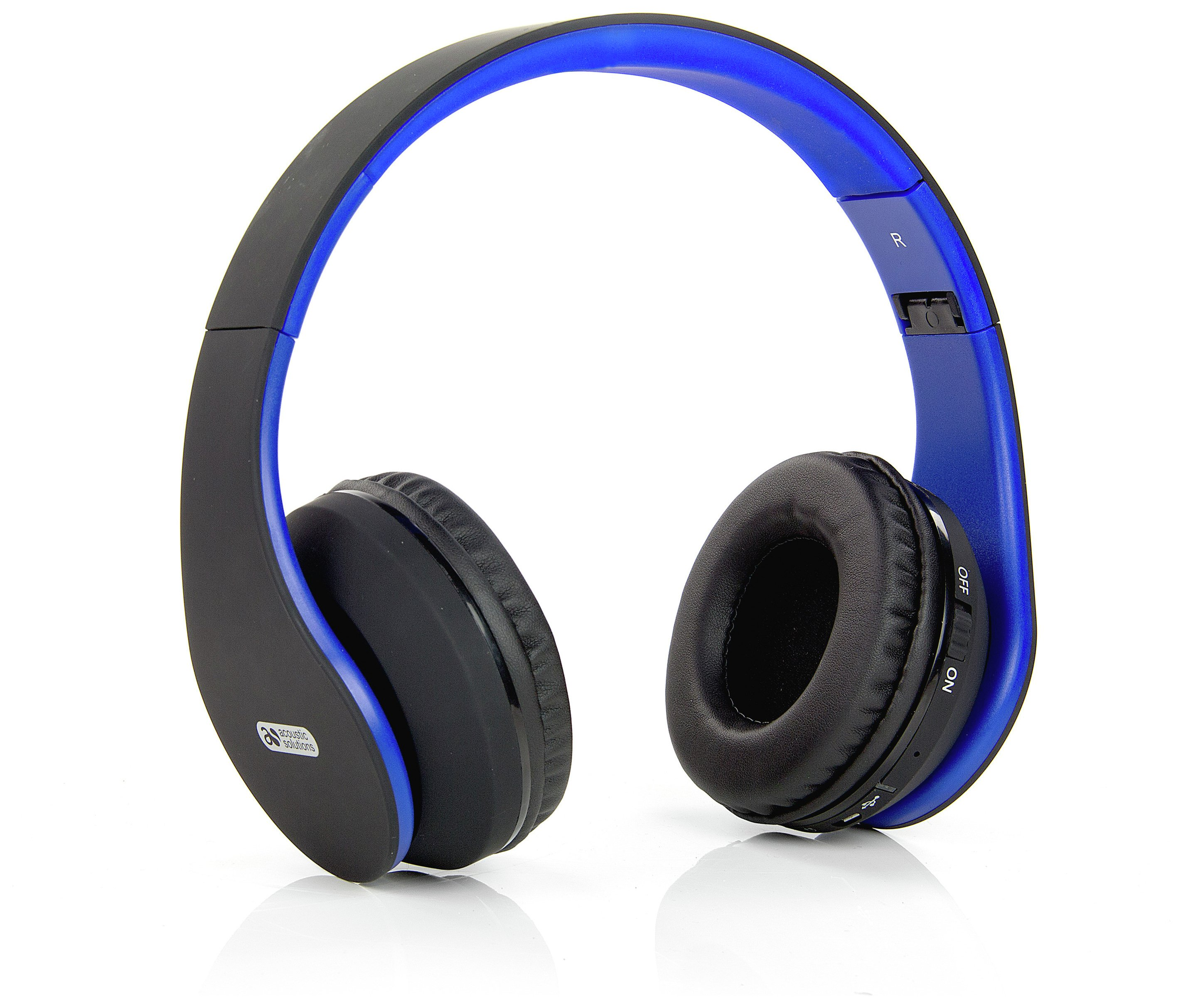 Image of Acoustic Solutions Bluetooth Headphones - Black/Blue
