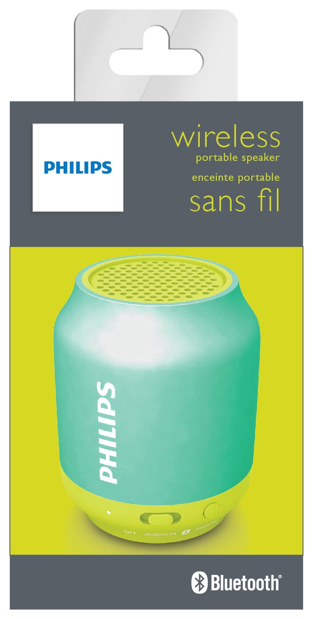 Philips BT50 Bluetooth Portable Speaker - Blue.