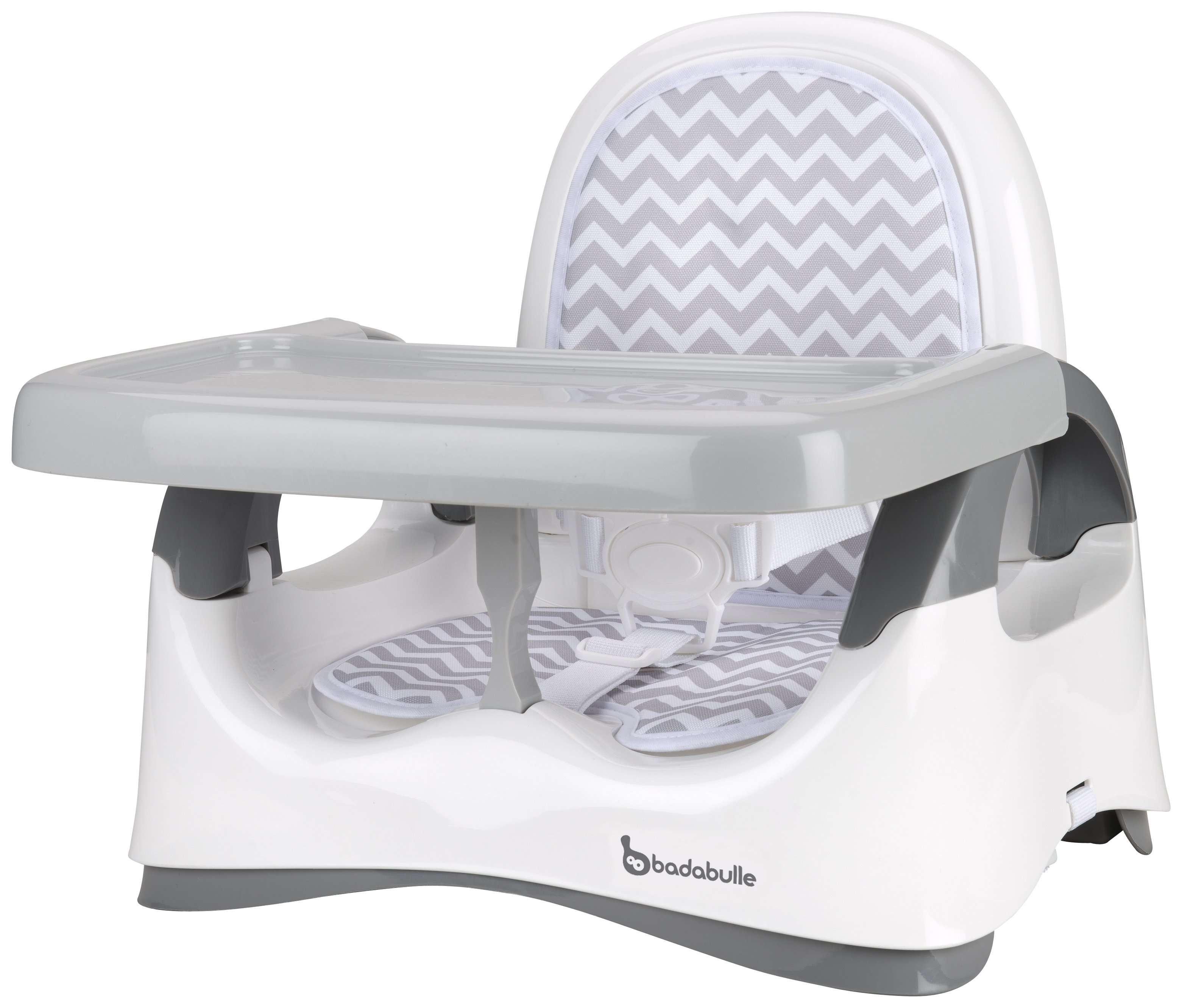 Image of Badabulle Comfort Booster Seat - White/Grey