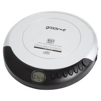 Groov-e GVPS110/SR Retro Personal CD Player - Silver.