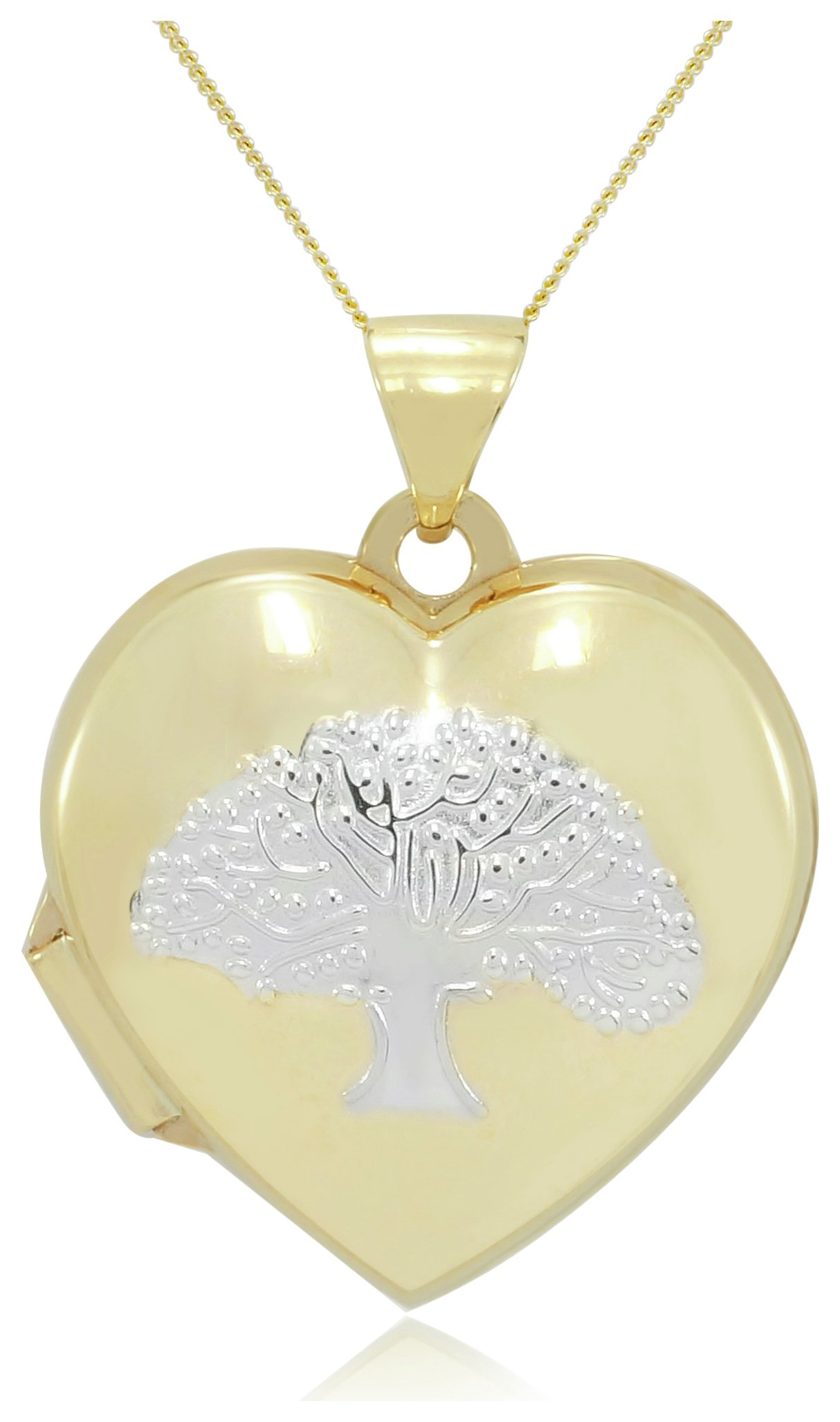 Image of 9 Carat - Two Toned Family Tree Locket.