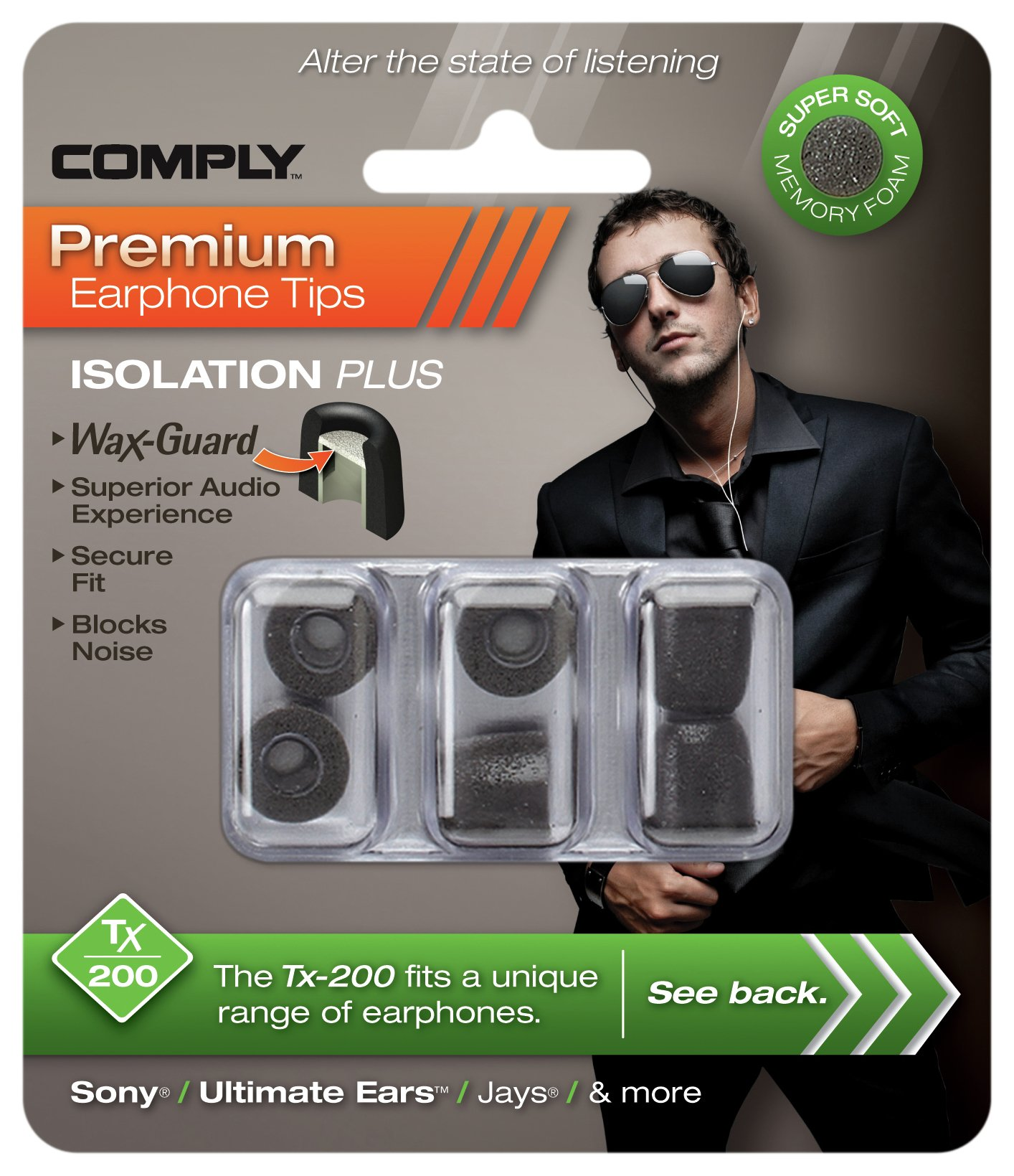 Image of Comply Complyfoam Isolation Series TX200 Headphone Foam Tips