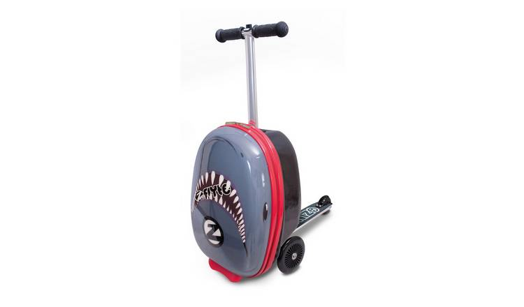 Flyte Snapper the Shark 3 Wheel Soft Scooter Suitcase