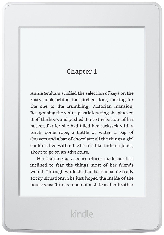 Kindle Amazon - Kindle - Paperwhite Wi-Fi E-Reader - White.