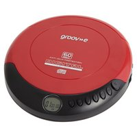 Groov-e GVPS110/RD Retro Personal CD Player - Red.